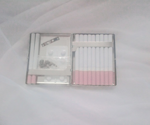 cigarette, pale, and pink image