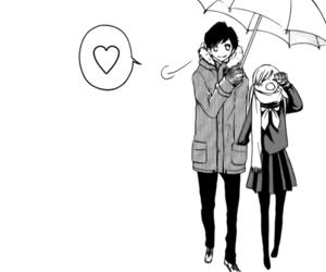 manga, love, and heart image