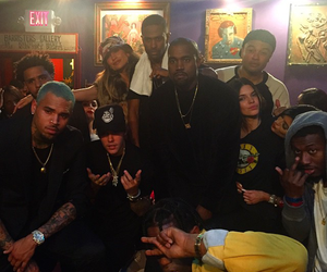 justin bieber, chris brown, and kendall jenner image