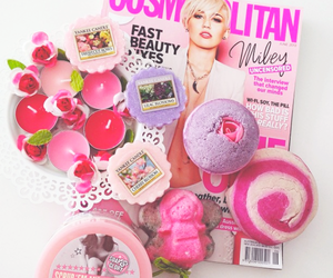 bath bombs, lush, and pink image