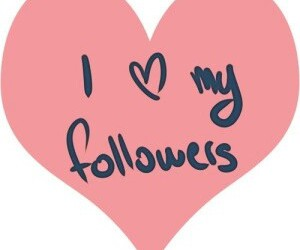 love, followers, and heart image