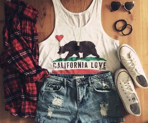 outfit, converse, and summer image