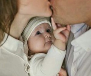 baby, kiss, and family image