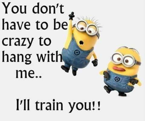 minions and crazy image