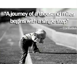 quotes, journey, and step image