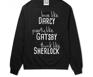 darcy, gatsby, and sherlock image