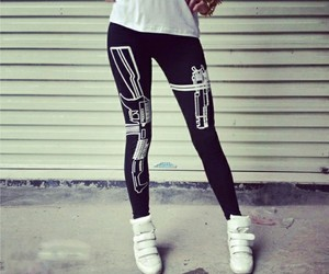 fashion, leggings, and black image