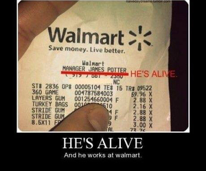 harry potter, walmart, and alive image