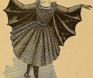 costume, victorian, and bat image