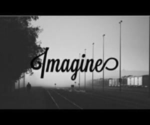 black and white, dreamer, and imagine image