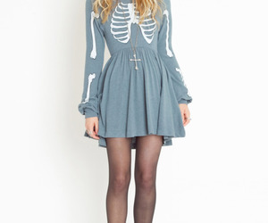 fashion, dress, and skeleton image