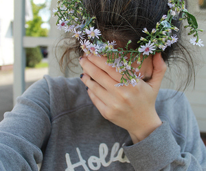 flowers, tumblr, and flower crown image