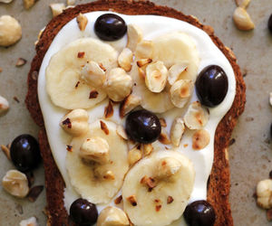 banana, food, and toast image