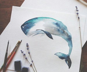 art, watercolor, and beauty image