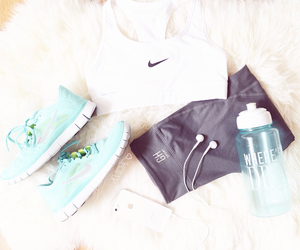 fitness, mint, and nike image
