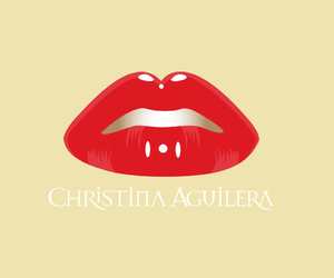 christina aguilera, lips, and red image