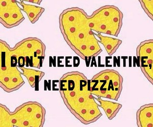 food, valentine, and pizza image