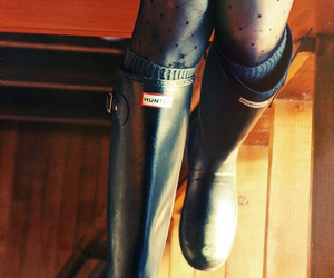 boots, hunter, and preppy image