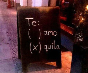 love, funny, and tequila image