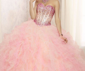 dress, pink, and rosa image