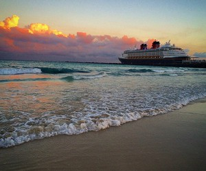 beach, clouds, and cruise image