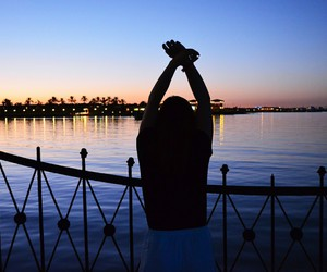 egypt, summer, and sunset image