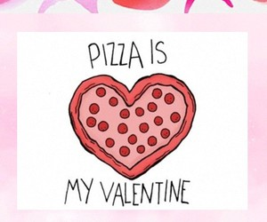 love, pizza, and wallpaper image