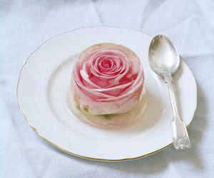 rose, food, and pink image