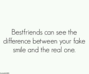smile, quote, and friends image