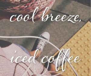 coffee, iced, and music image