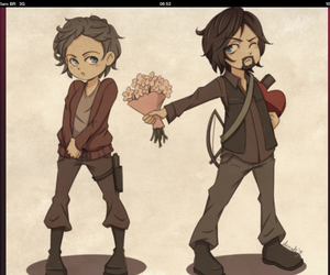 the walking dead, daryl dixon, and caryl image