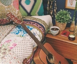beautiful, guitar, and vintage image