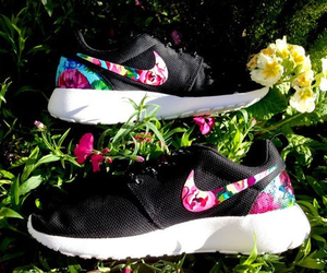 floral, nike, and training image