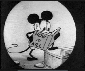 kill, mickey, and mickey mouse image
