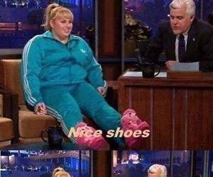 funny, shoes, and fat amy image