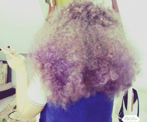 Afro, purple, and yolo image