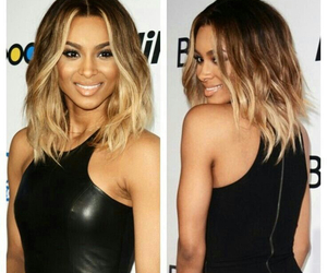 hair, ciara, and ombre image