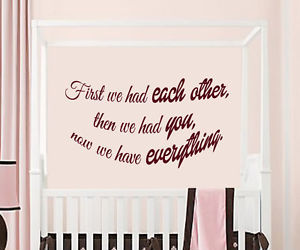 wall decals, wall quotes, and nursery room decor image