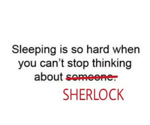funny, sherlock, and sleeping image
