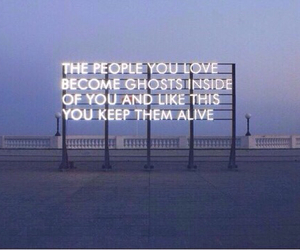 love, quotes, and ghost image