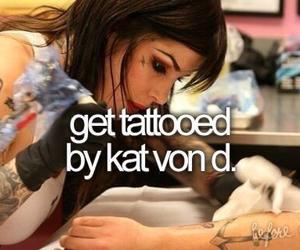 kat von d, tattoo, and bucketlist image