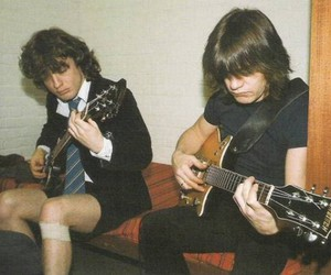 ACDC, angus young, and music image