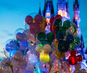 disney, balloons, and disneyland image