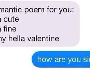 funny, poem, and valentine image
