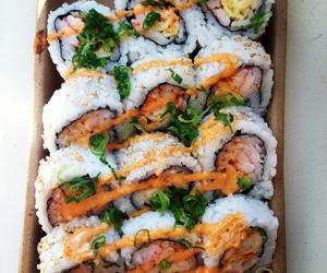 food, sushi, and yummy image