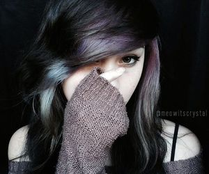 brown hair, dyed hair, and grunge image