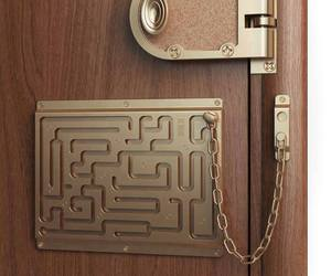funny, door, and lock image