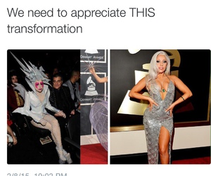 Lady gaga and transformation image