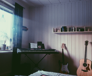 guitar and room image