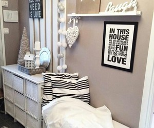 bedroom, house, and decoration image